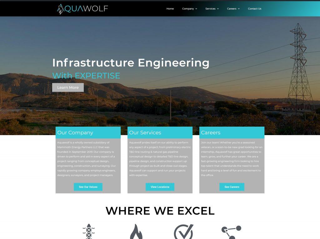 Aquawolf Portfolio Ap Technology Web Design